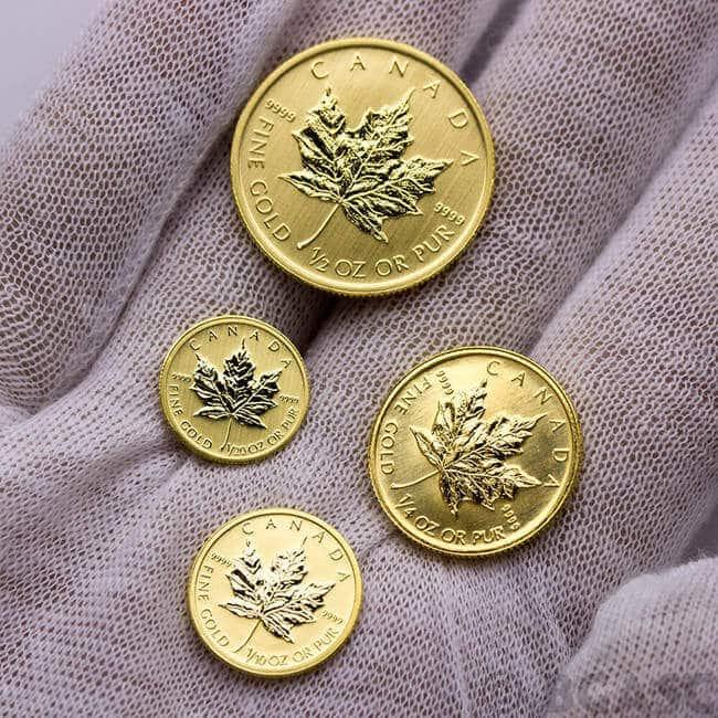 Gold-Canadian-Maple-Leaf-fractional-coins_bgsac