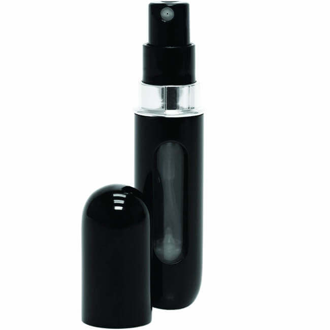 Travelo refillable mini pocket travel spray - spray nozzle with level indicator